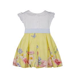 """Lapin House Jurk """"Eendjes"""" geel witte blouse"""