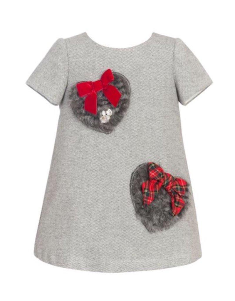 """Balloon Chic Jurk """"Heart"""" grijs"""