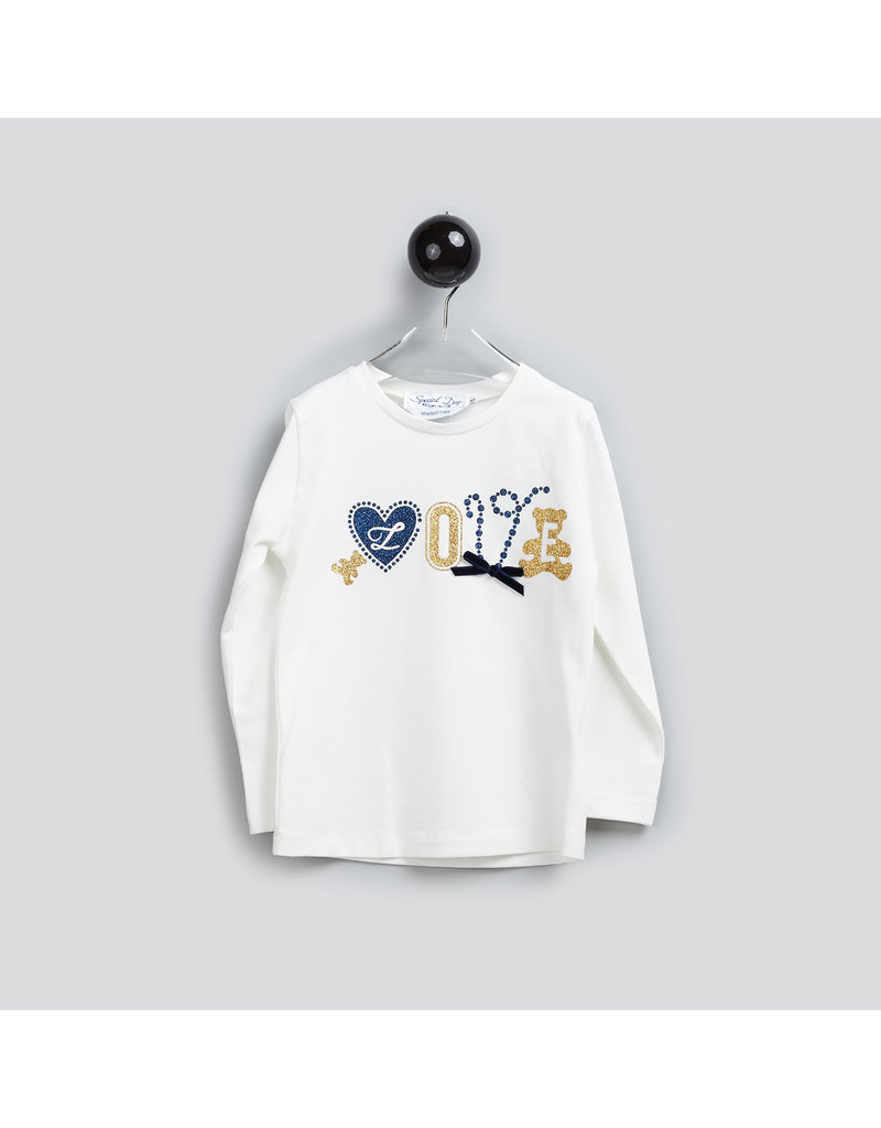 """Special Day Longsleeve """"Love"""" wit"""