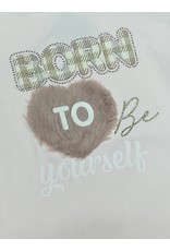 """Yours Sweater """"Born To Be Yourself"""" roze"""