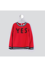 """T LOVE Sweater """"YES"""" rood"""