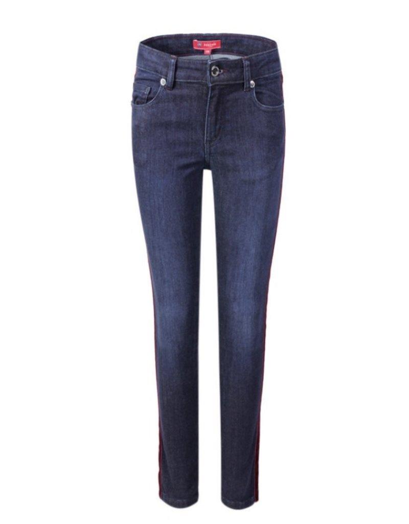 Jeans bordeaux streep