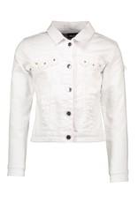Le Chic Jeans jacket wit voile bloemen