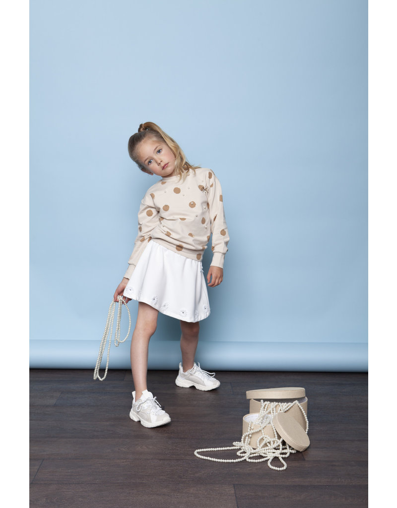 """Le Chic Sweater """"Painted Dots"""" beige"""