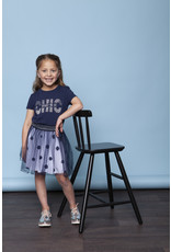 "Le Chic Tshirt ""CHIC"" steentjes blue navy"