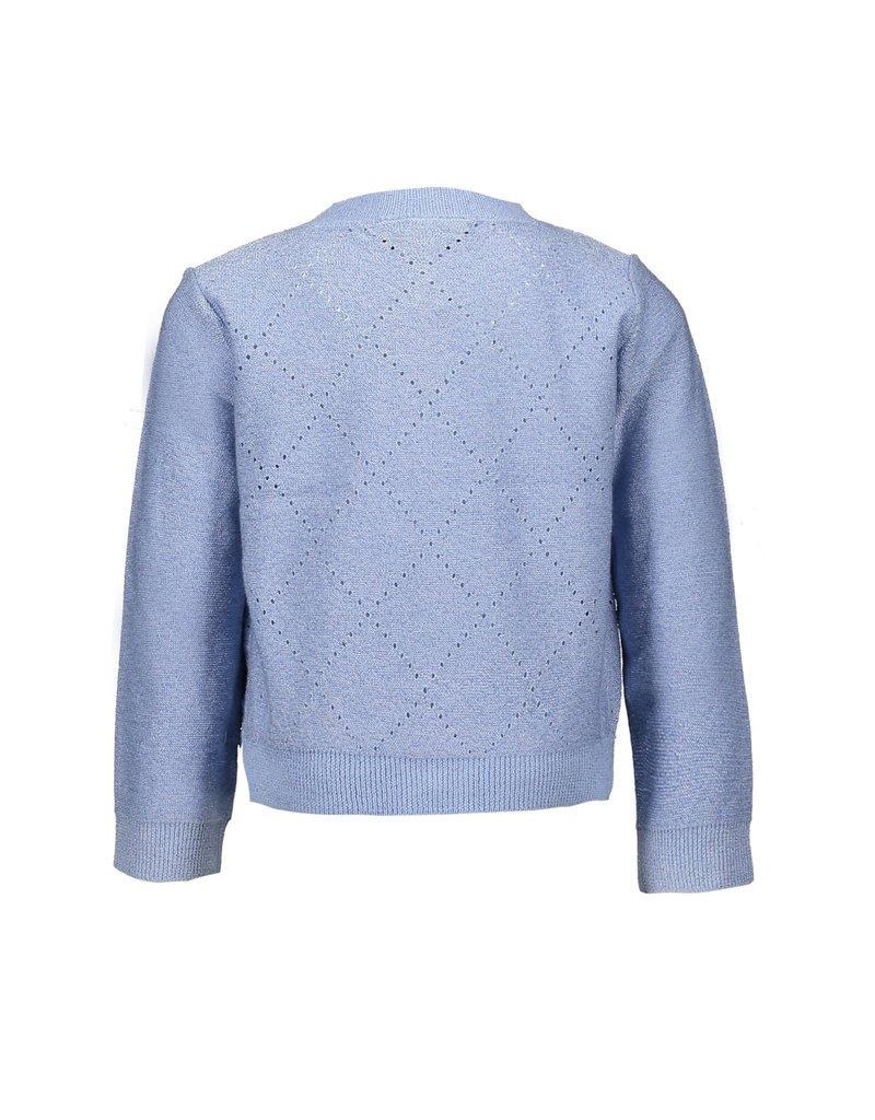 Le Chic Cardigan glam knit lichtblauw