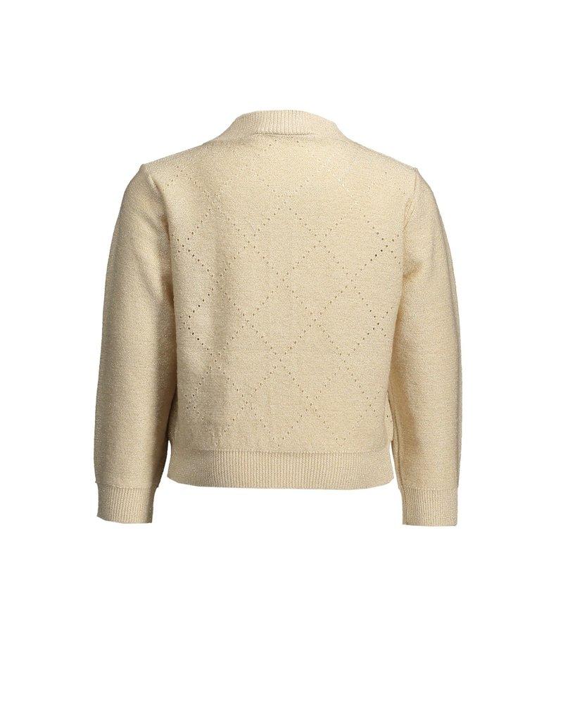 Le Chic Cardigan glam knit beige