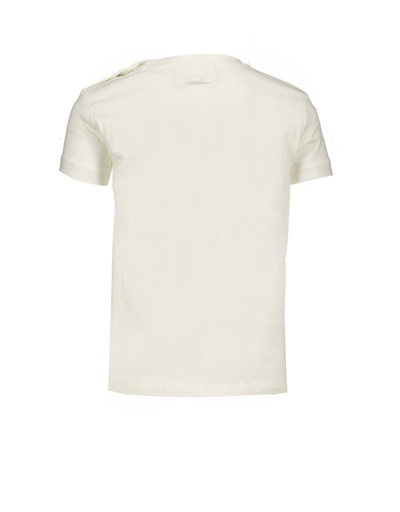 Le Chic Tshirt bloemetjes kraag off white