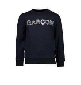 "Le Chic Garçon Sweater logo ""Garçon"" blue navy"