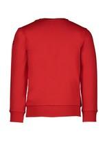 "Le Chic Garçon Sweater logo ""Garçon"" rood"