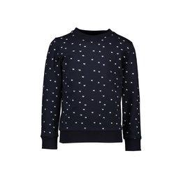 Le Chic Garçon Sweater all-over print blue navy
