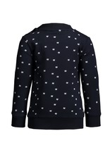 Le Chic Garçon Sweatertje all-over print blue navy