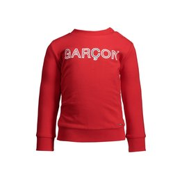 "Le Chic Garçon Sweatertje logo ""Garçon"" rood"