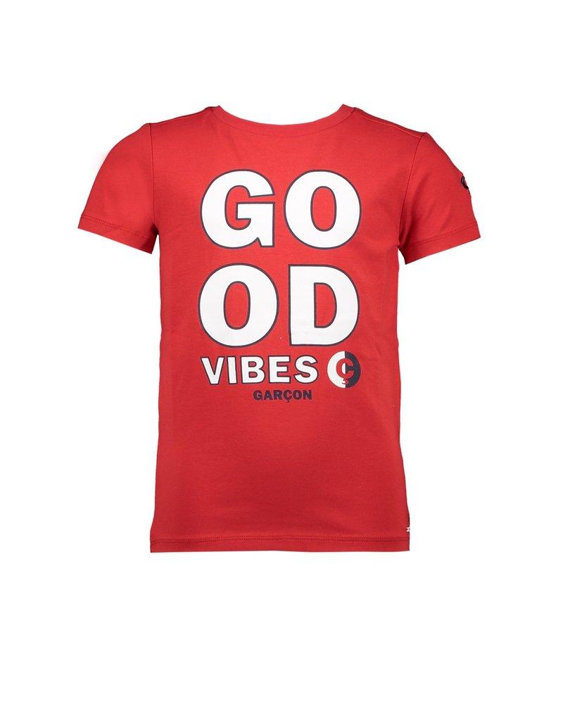 "Le Chic Garçon Tshirt ""Good Vibes"" rood"