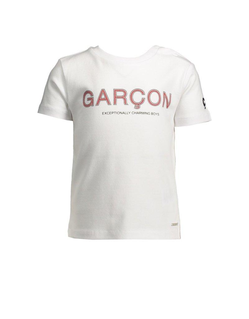 "Le Chic Garçon Tshirt logo ""Garçon"" wit"