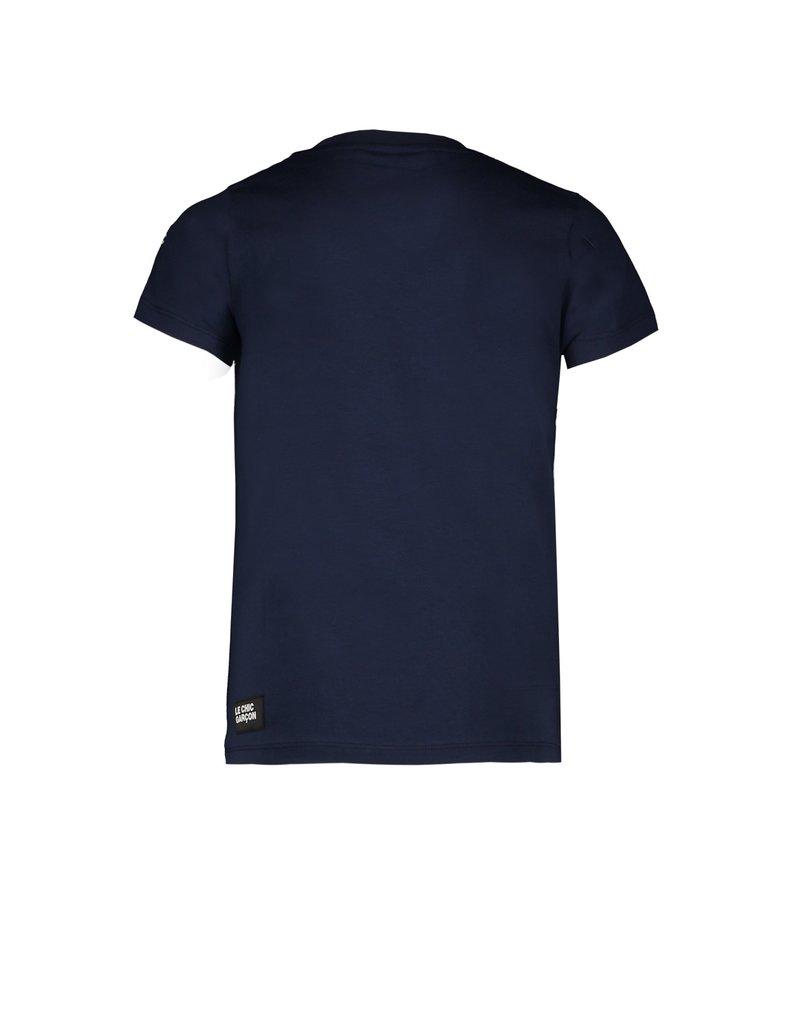 """Le Chic Garçon Tshirt """"Garçon"""" underlined blue navy"""