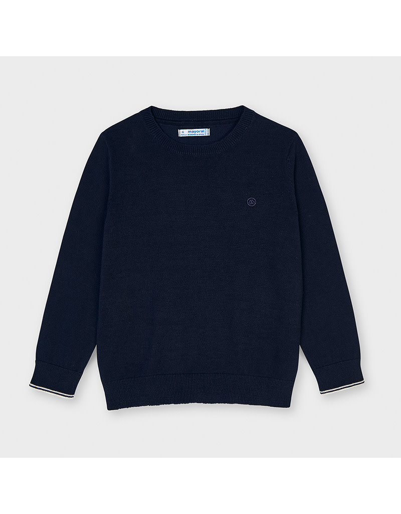 MAYORAL Trui basic ronde hals navy