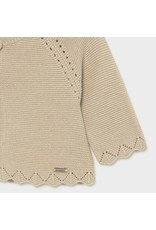 MAYORAL Cardigan basic knit beige lurex