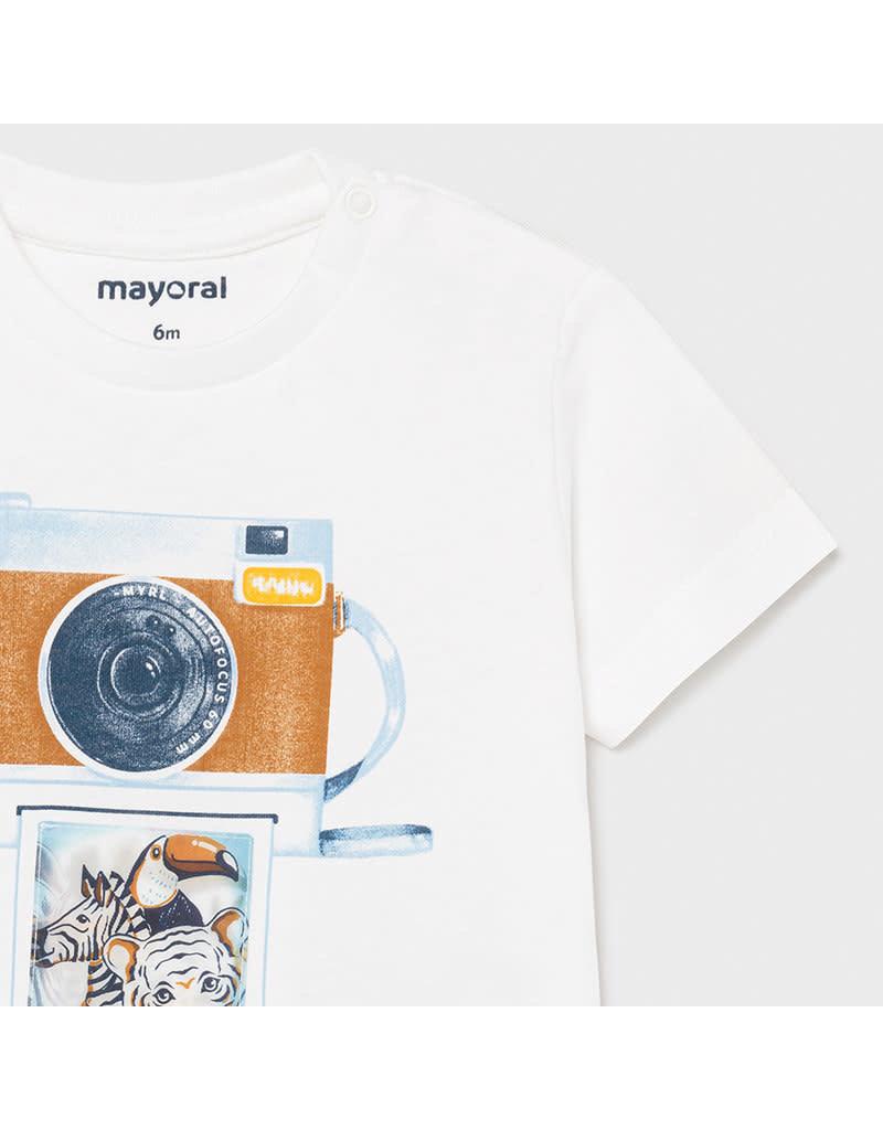 "MAYORAL Tshirt ""Selfie Friends"" wit"