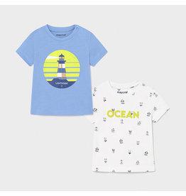"MAYORAL Set 2 tshirts ""Ocean&Lighthouse"""