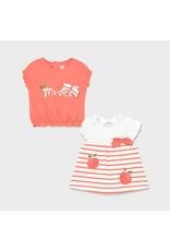 "MAYORAL Set 2 tshirts ""Peach"""