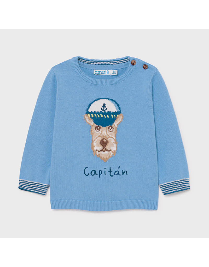 "MAYORAL Trui ""Capitan"" lichtblauw"