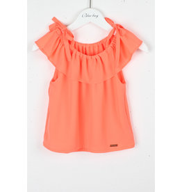 "BLUE BAY Top ""Denise"" fluo coral"
