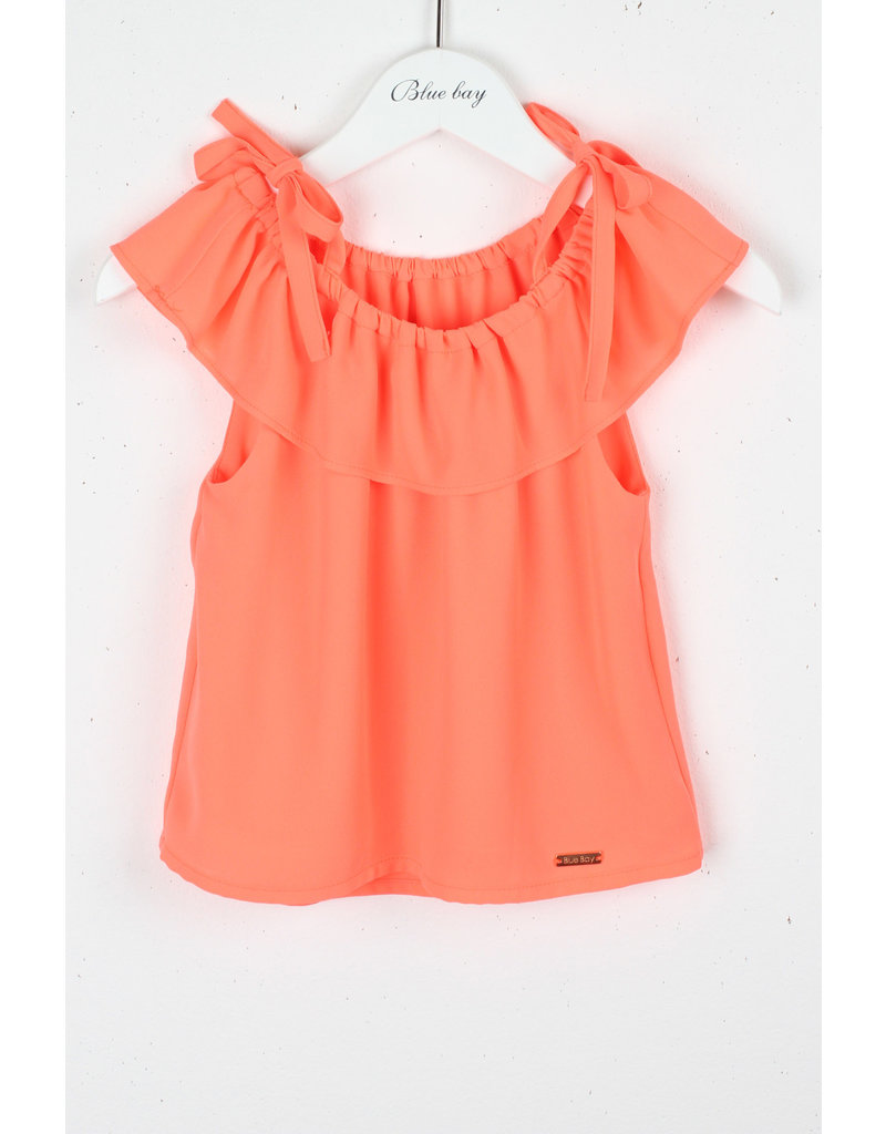"""BLUE BAY Top """"Denise"""" fluo coral"""