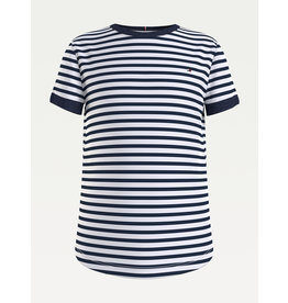 TOMMY HILFIGER Tshirt essential stripe twilight navy/white