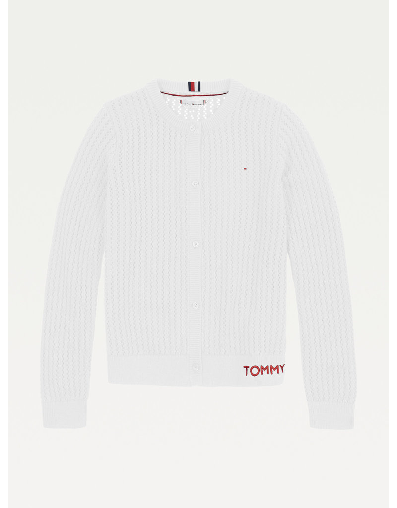TOMMY HILFIGER Cardigan essential pointelle white