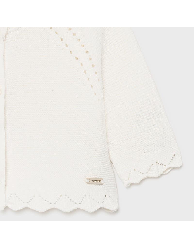 MAYORAL Cardigan basic knit natural lurex