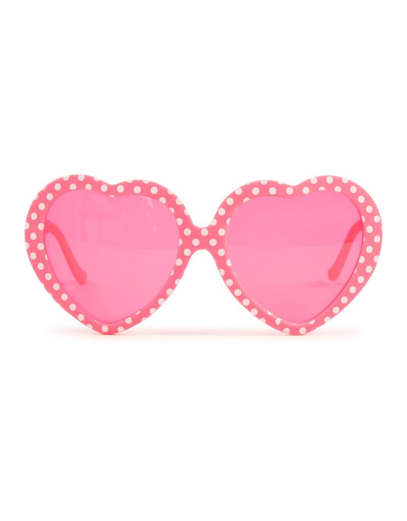 "Billieblush Zonnebril ""Hartjes"" roze fluo"