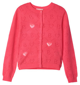 Billieblush Cardigan tricot rose fluo