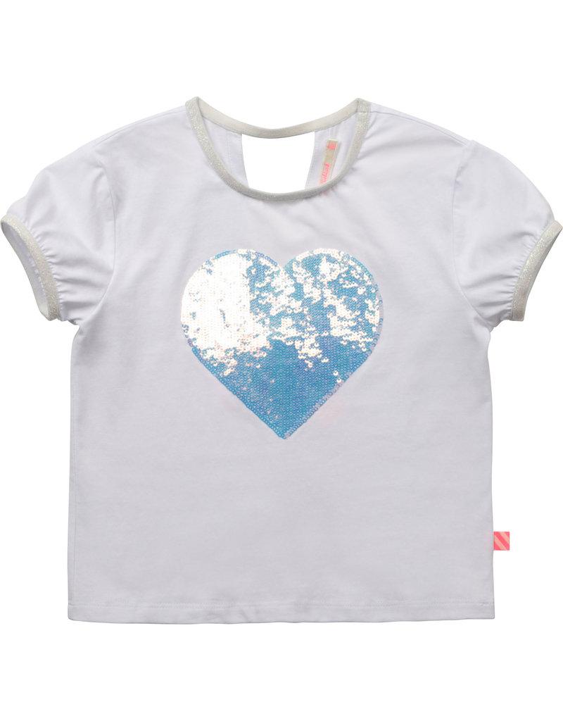 "Billieblush Tshirt ""Heart"" wit"