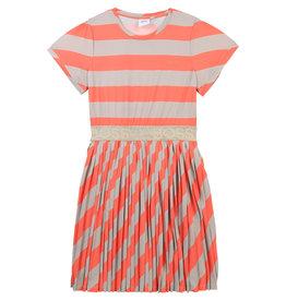 HUGO BOSS Jurk stripes mandarin/beige