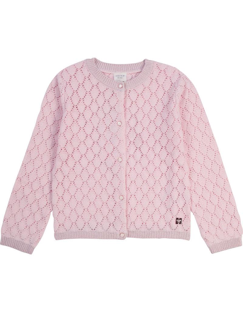 Carrément Beau Cardigan tricot/gehaakt baby pink