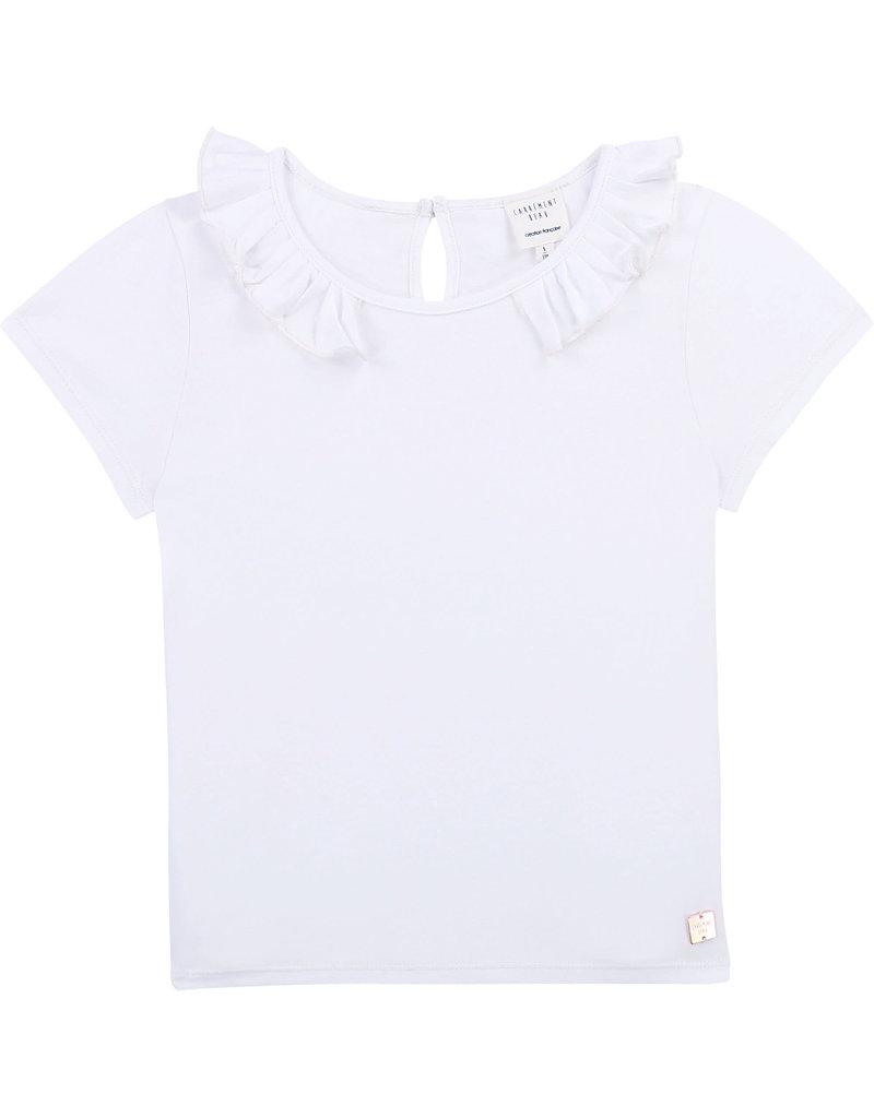 Carrément Beau Tshirt kraagje wit