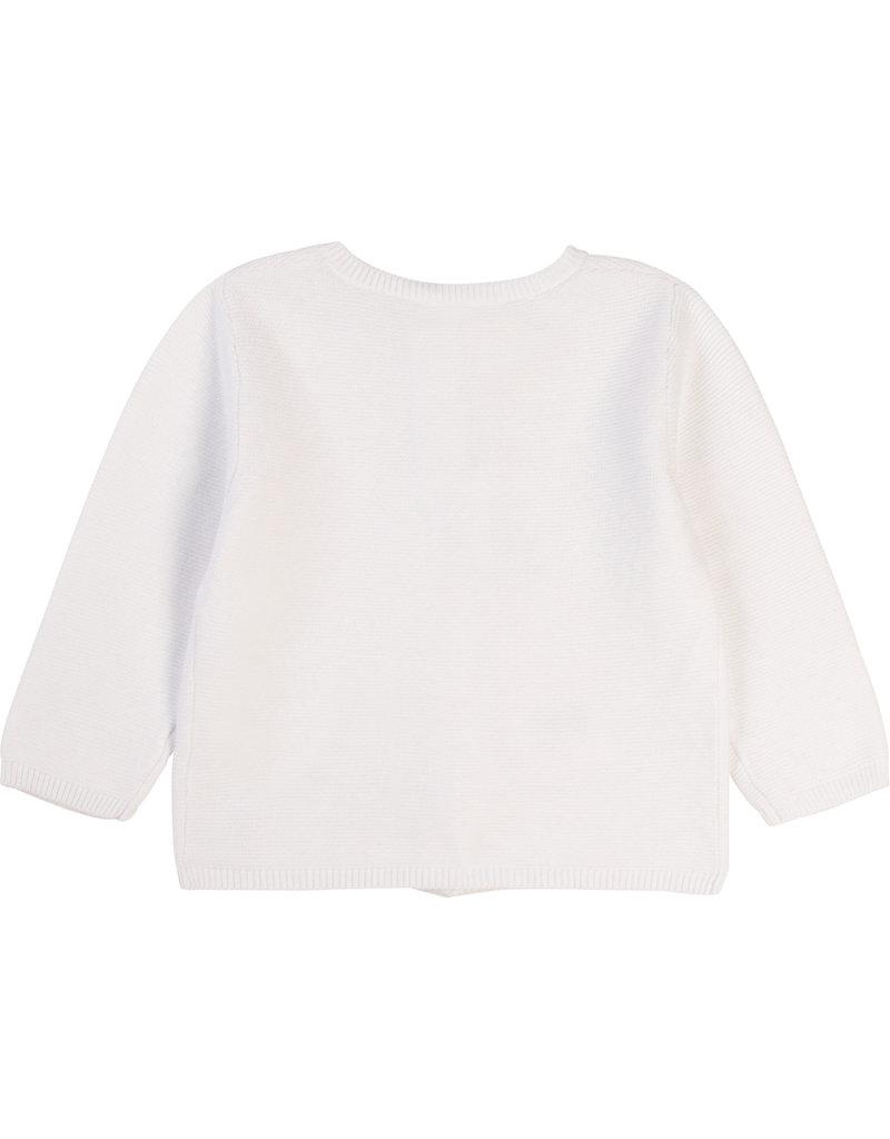 Carrément Beau Cardigan tricot wit
