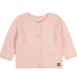Carrément Beau Cardigan tricot baby pink