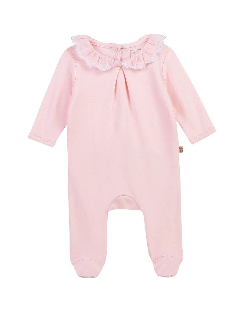 Carrément Beau Kruippakje kraagje baby pink geschenkdoosje