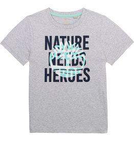 "Timberland Tshirt ""Nature Needs Heroes"" grijs"