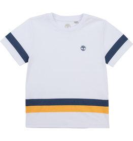 Timberland Tshirt streep wit/oranje
