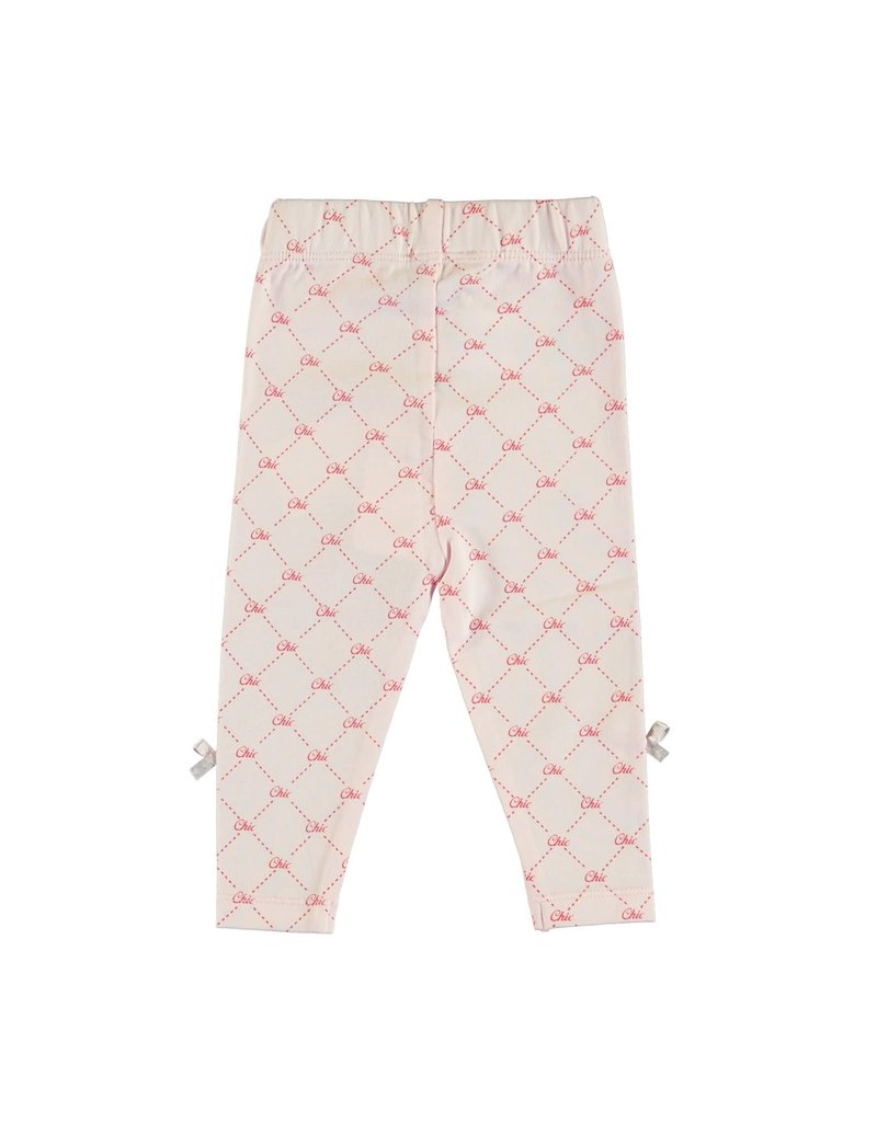 Le Chic Legging all-over Chic logo pink