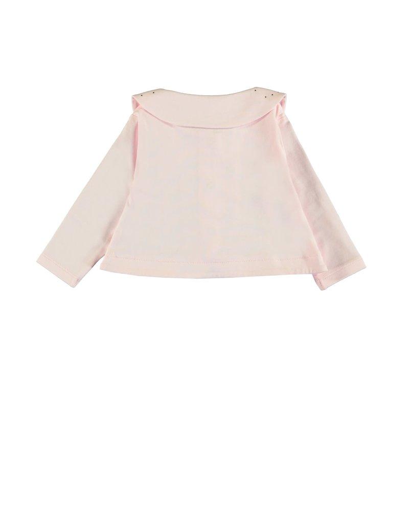 Le Chic Cardigan kraagje strass pink