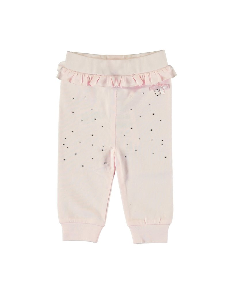 Le Chic Broekje ruches achteraan strass pink
