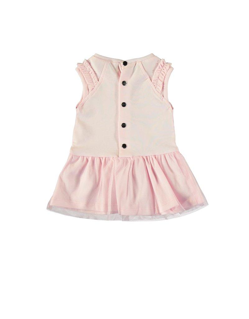 Le Chic Jurk strikje strass tule skirt pink