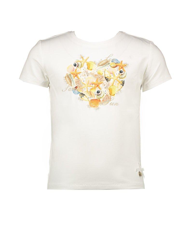 "Le Chic Tshirt ""Heart Of Shells"" off white"