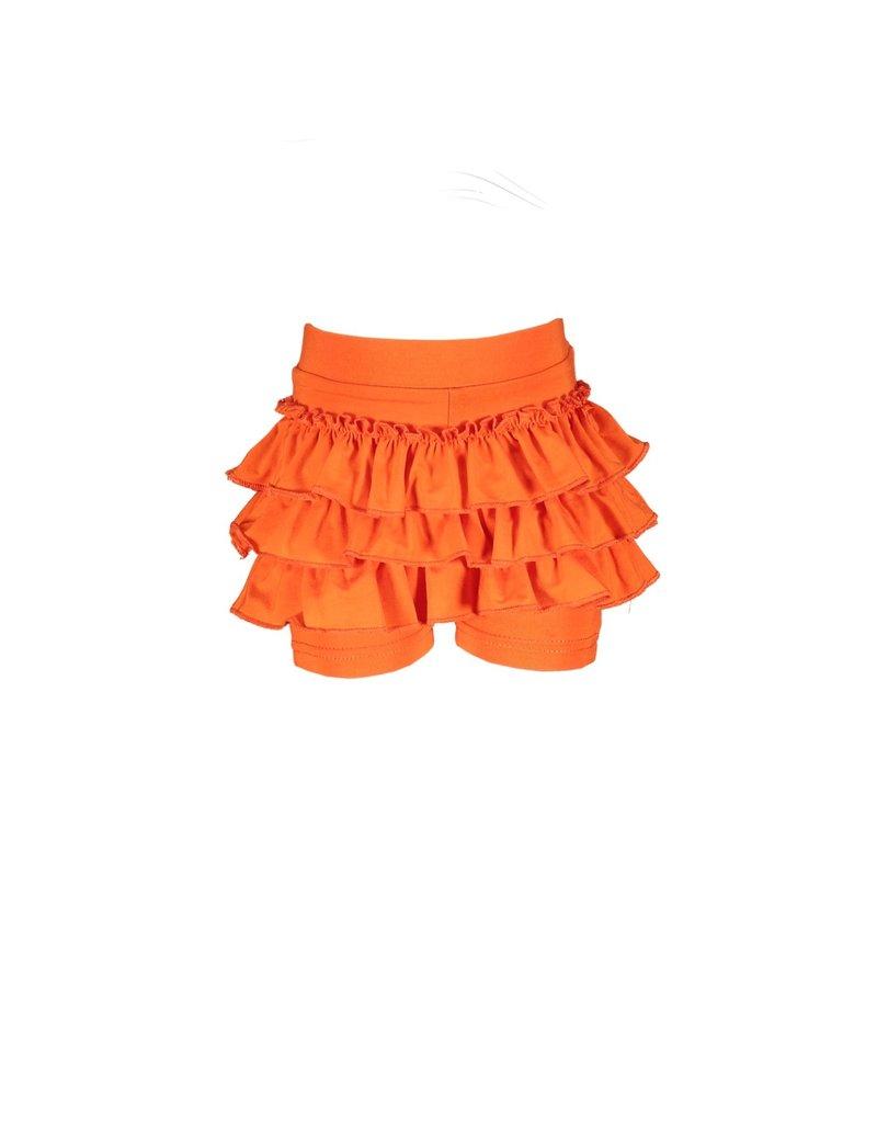 Le Chic Shortje ruffled tangerine sunset