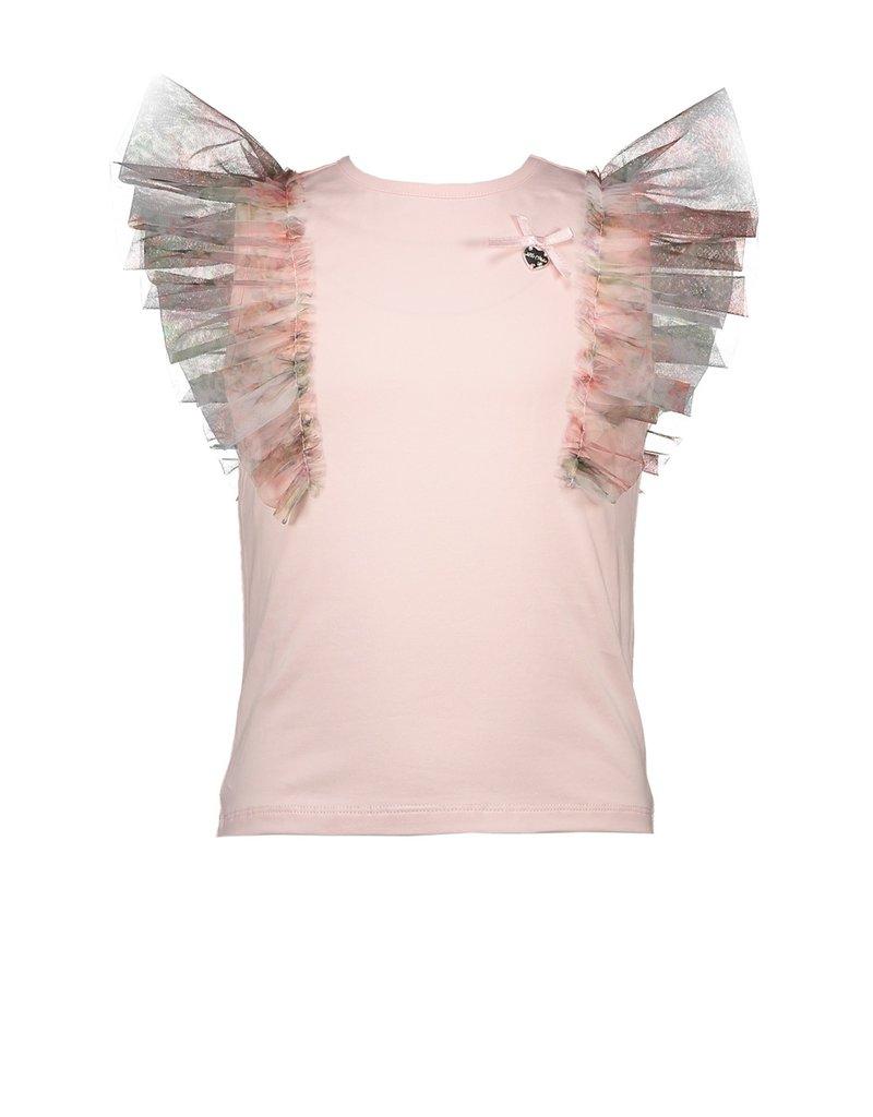 Le Chic Tshirt tule mouwen pink