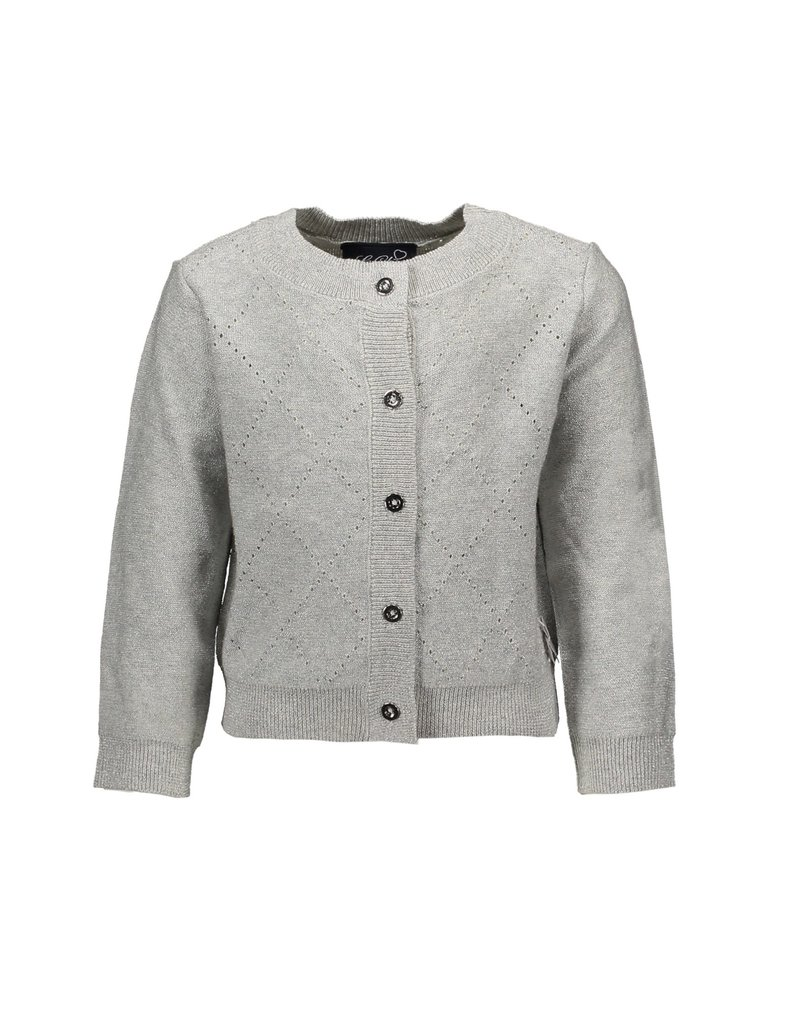 Le Chic Cardigan glam knit silver